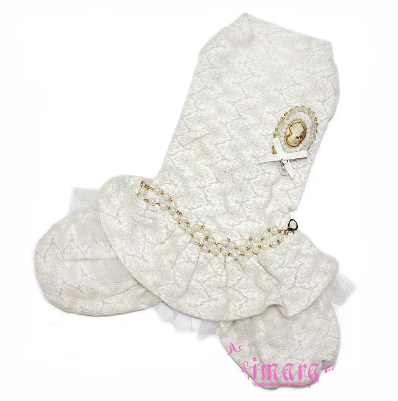 Платье-комбинезон белое