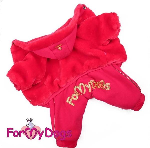 Комбинезон-шубка красная для девочек