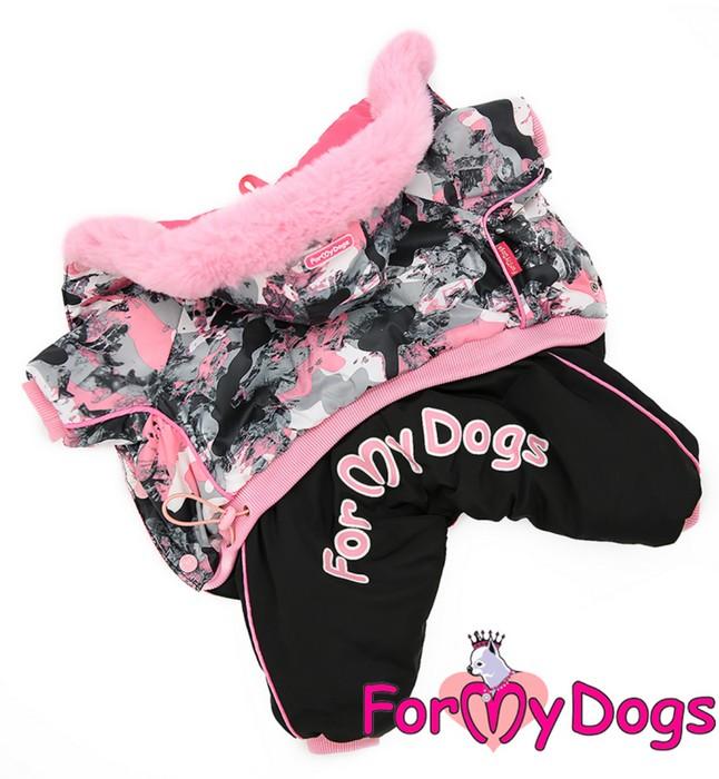 Комбинезон черно/розовый для девочек
