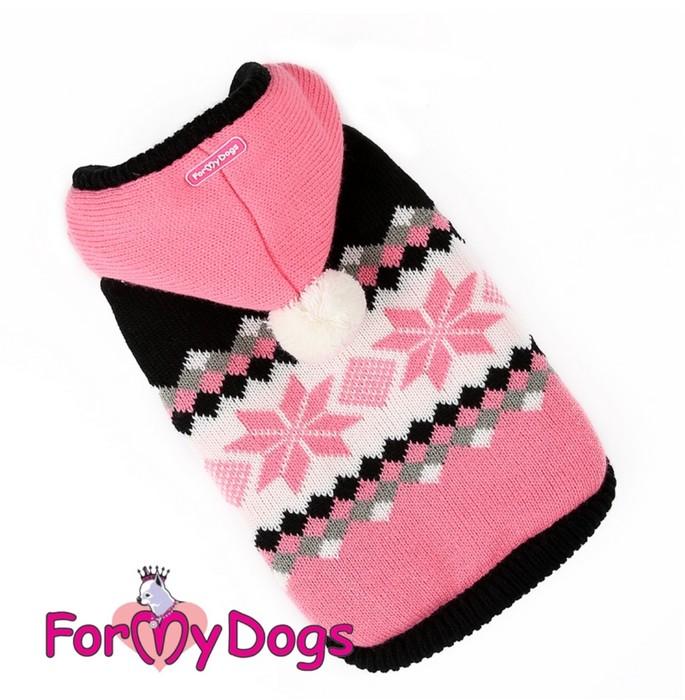 Курточка черно/розовая вязаная