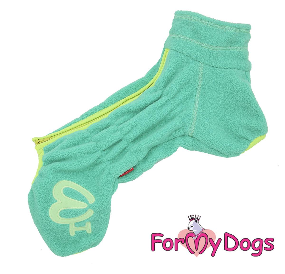 Комбинезон флисовый зеленый для девочек