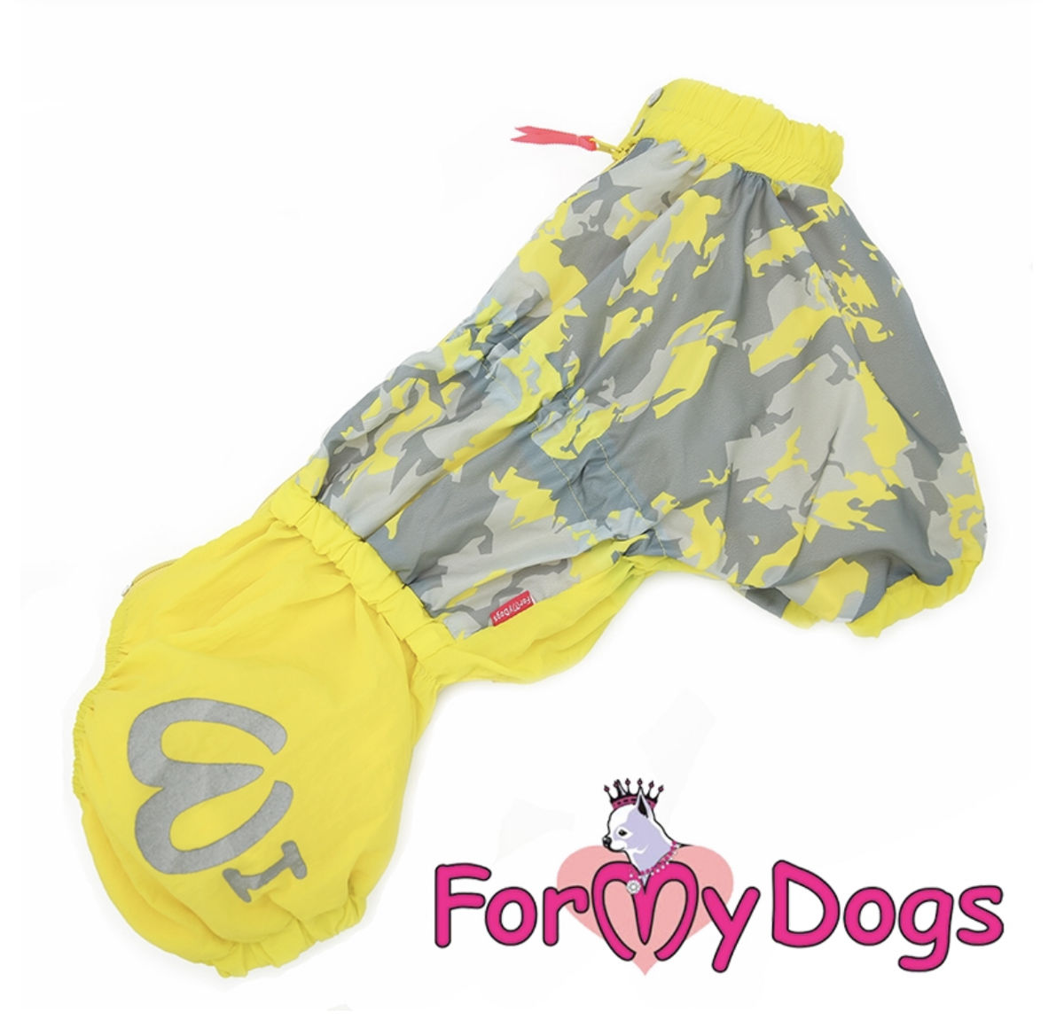 Дождевик для корги желтый для мальчиков