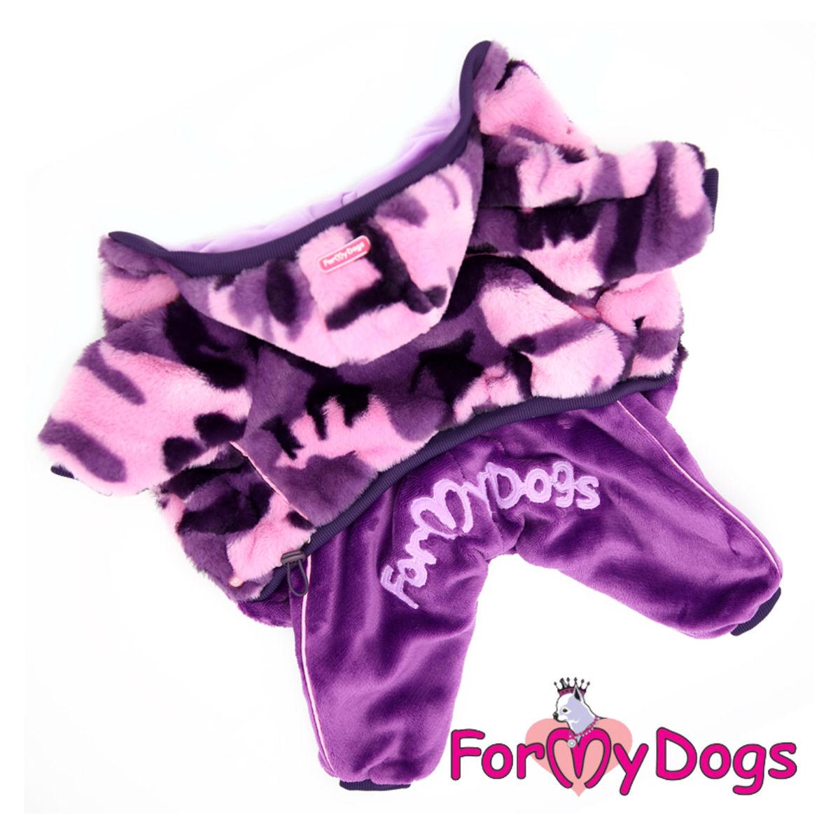 Комбинезон-шубка фиолетовая для девочек