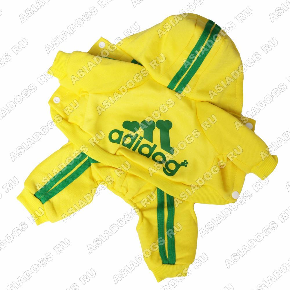 """Костюм """"Adidog"""" желтый"""