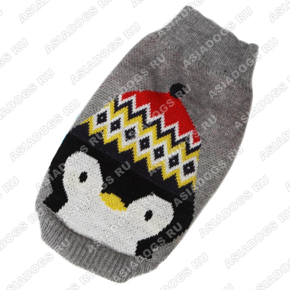 """Свитер """"Пингвин"""" серый"""