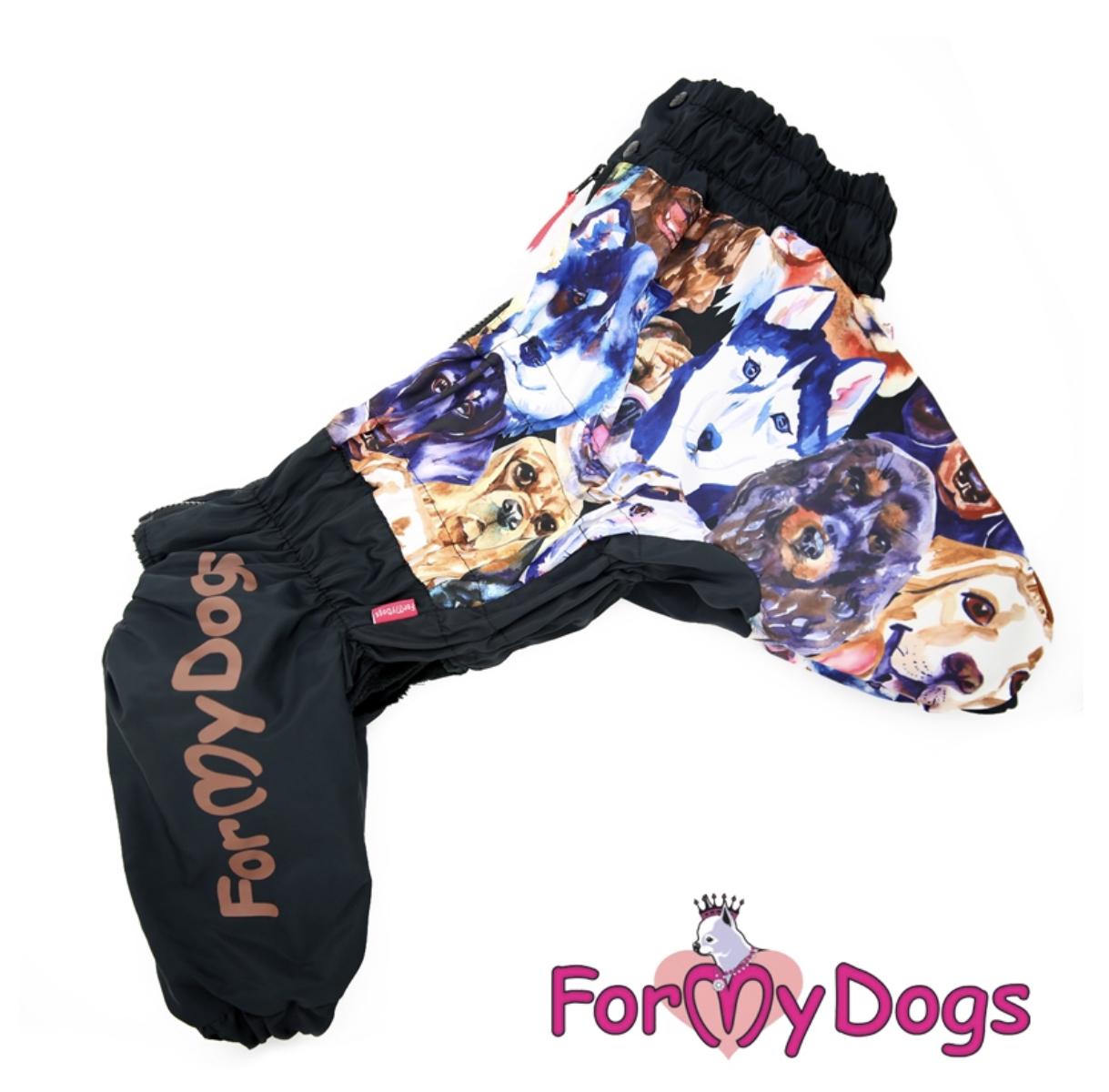 Комбинезон черный Dogs для мальчиков