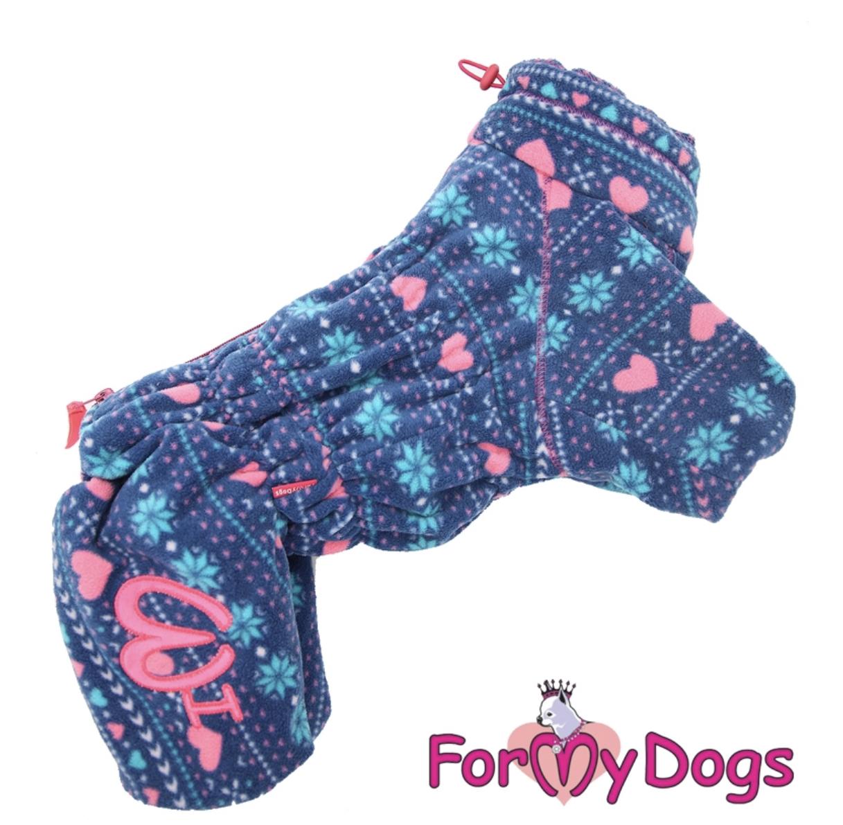 Комбинезон фиолетовый флис для девочек