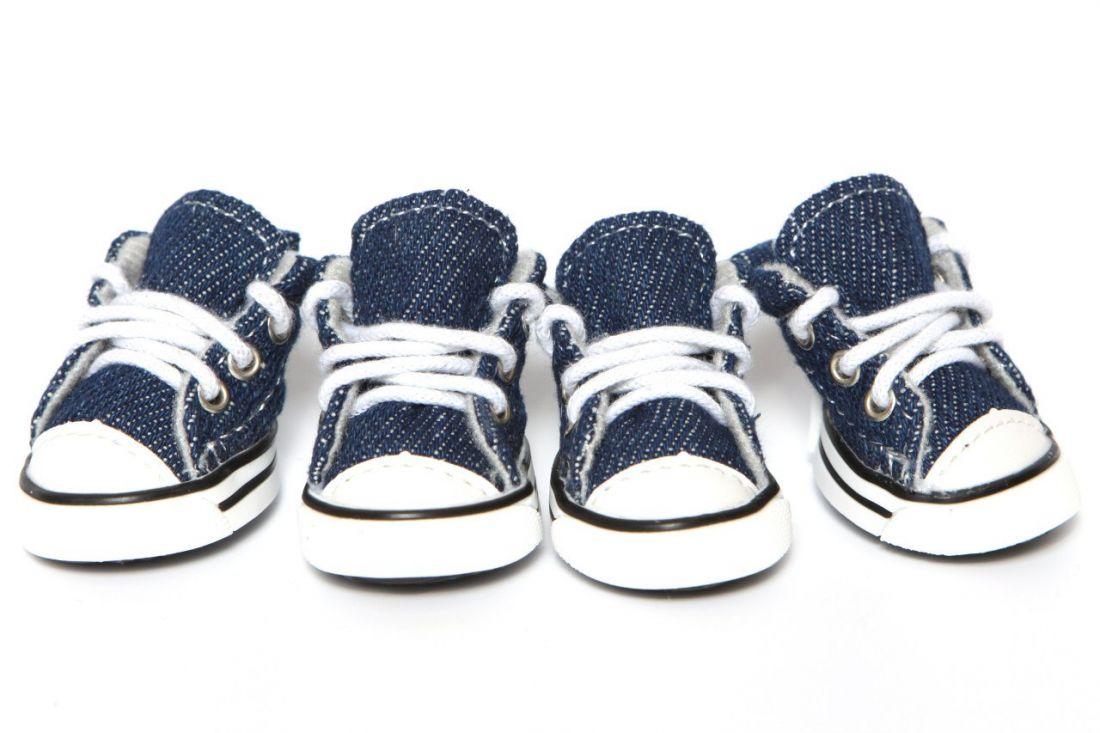 Кеды джинсовые синие
