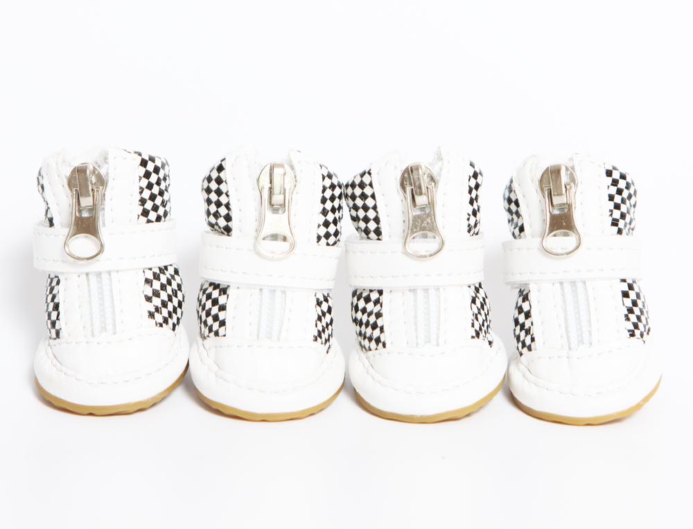 """Ботинки """"Шашка"""" белые"""