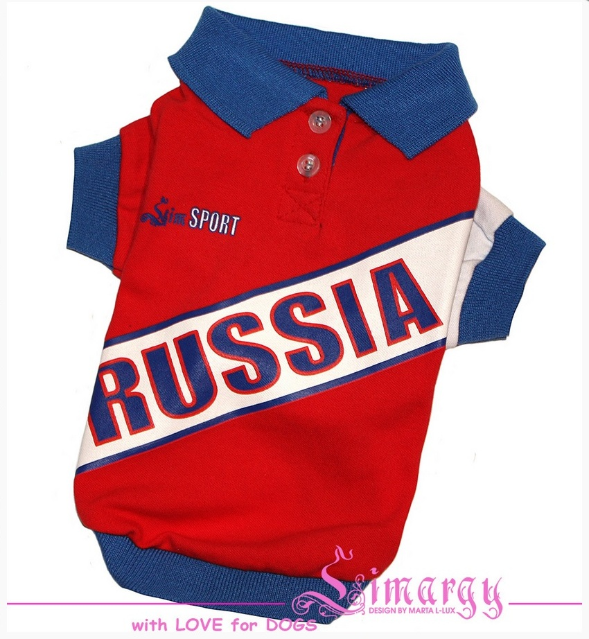 "Поло ""Russia"" красное"