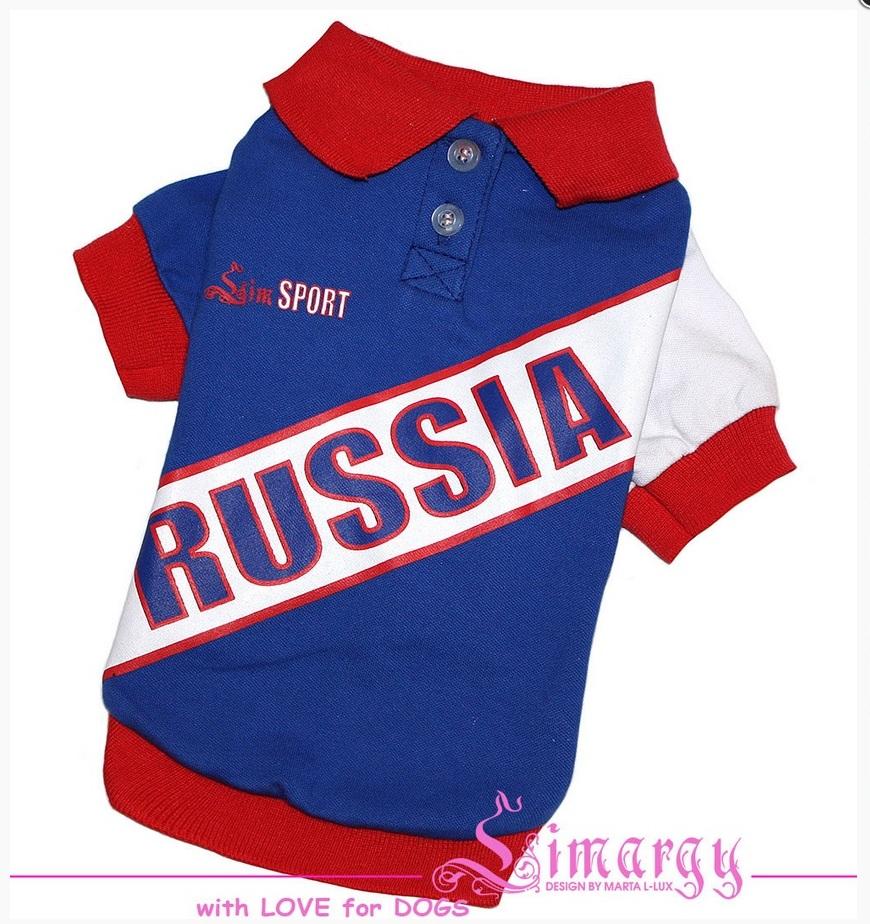 """Поло """"Russia"""" синее"""