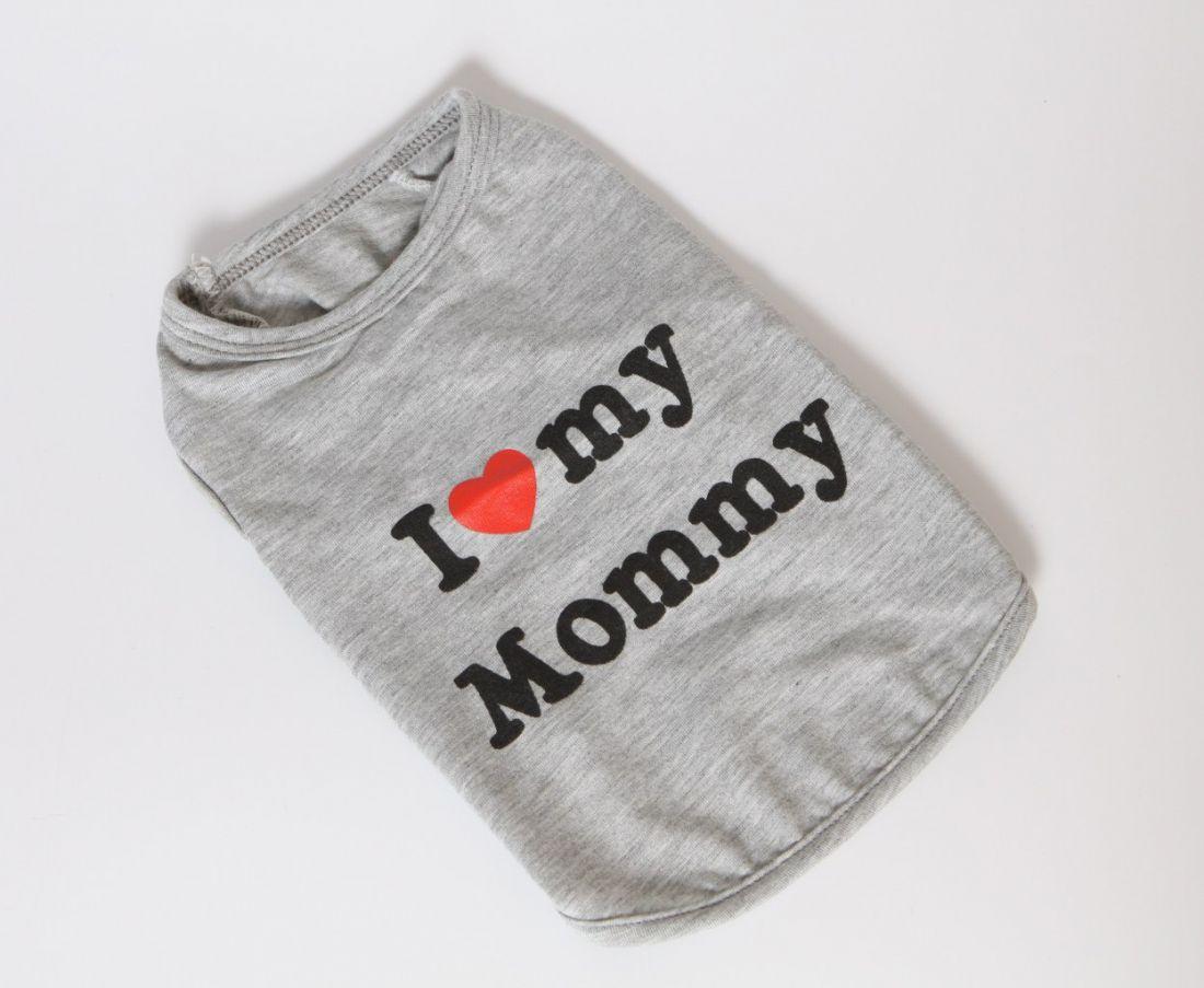 "Майка ""I love"" серая"