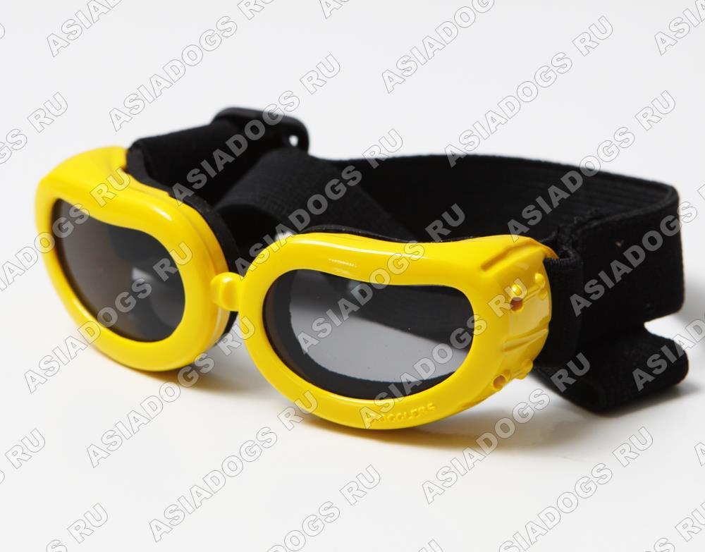Очки солнцезащитные для собак, желтые, р-р S